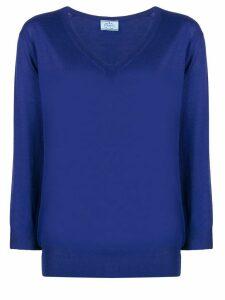 Prada V-neck wool jumper - Blue