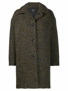 A.P.C. dotted midi coat - Blue