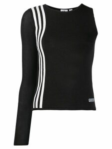 adidas asymmetric top - Black