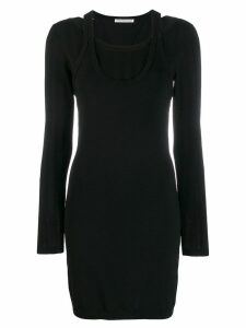 T By Alexander Wang bi-layer mini dress - Black