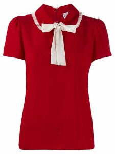 Red Valentino REDValentino contrast pussy-bow blouse
