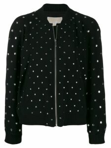 Michael Michael Kors metallic embellished bomber jacket - Black