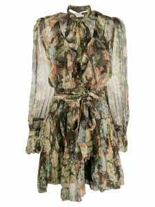 Zimmermann Espionage ruffle wrap dress dress - Brown