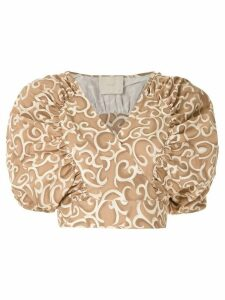 Framed Link cropped top - Multicolour