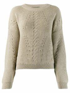 Alberta Ferretti knit jumper - Neutrals