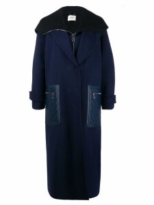 Fendi cashmere double-layer coat - Blue