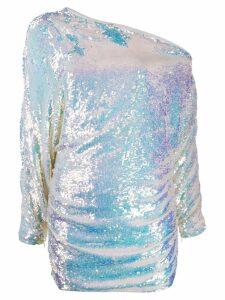 Retrofete off-shoulder sequined dress - White
