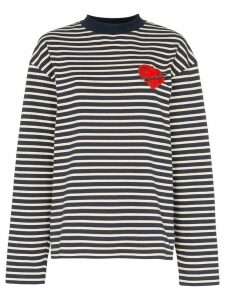 Palm Angels Pin My Heart striped top - Multicolour