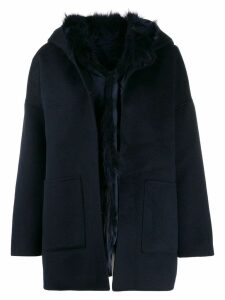 S.W.O.R.D 6.6.44 hooded single-breasted coat - Blue