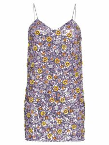 Ashish floral sequin mini dress - Purple