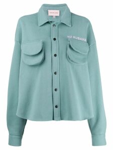 Natasha Zinko oversized cargo shirt-jacket - Green