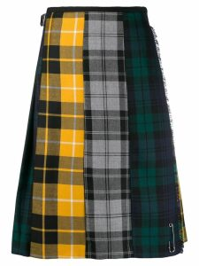 Le Kilt plaid panelled midi skirt - Yellow