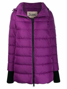 Herno hooded padded coat - PURPLE
