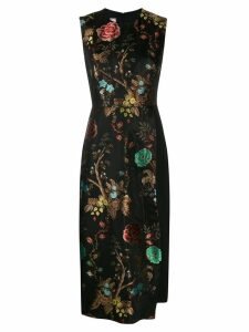 Antonio Marras floral layered panel dress - Black