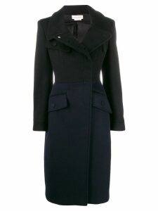 Alexander McQueen fitted double breasted coat - Black