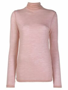 Semicouture turtleneck sheer jumper - Pink