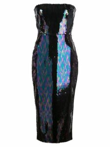 Alex Perry sequined Mila midi dress - Blue