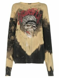 R13 Battle Punk bleached sweatshirt - Brown