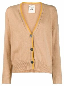 Semicouture contrast trimmed cardigan - Neutrals