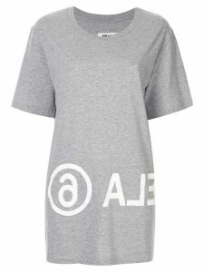 Mm6 Maison Margiela logo printed T-shirt - Grey