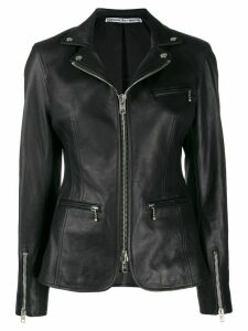Alexander Wang ball-chain biker jacket - Black