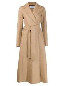Harris Wharf London belted long-length coat - Neutrals