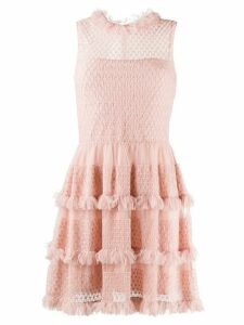 Red Valentino tulle tiered dress - Pink