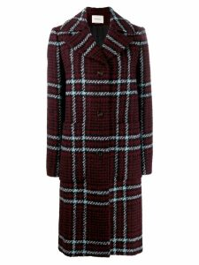 Mulberry checked coat - Red