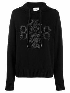 Barrie cashmere hooded jumper - Black