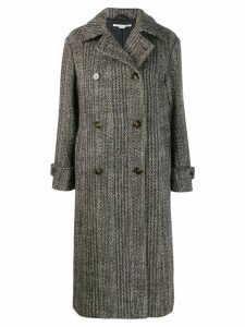 Stella McCartney chevron button-up coat - Black