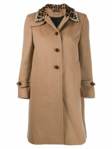 Miu Miu embellished collar coat - Neutrals