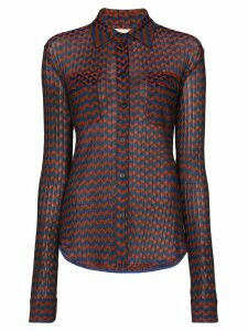 Wales Bonner geometric pattern long-sleeve shirt - Magic Multi