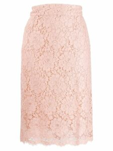 Dolce & Gabbana floral lace pencil skirt - Pink
