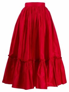 Dolce & Gabbana ruched hem full skirt - Red