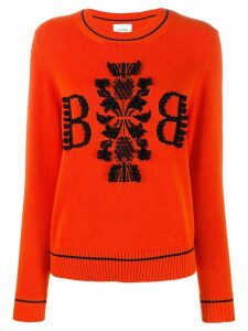 Barrie cashmere contrast jumper - Orange