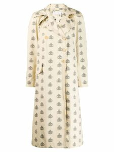 Chloé Printed Emblem trench coat - Neutrals