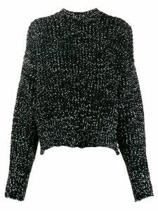 Jil Sander cropped roll-neck knitter jumper - Black