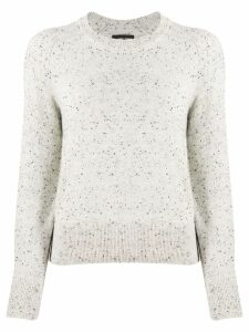 Isabel Marant crew neck knitted jumper - Grey