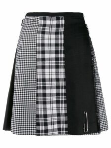 Le Kilt check print panelled skirt - Black