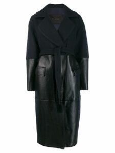 Blancha panelled trench coat - Blue