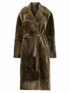 Blancha oversized fur coat - Green
