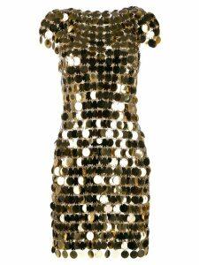 Paco Rabanne disc dress - Gold