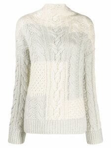 Loro Piana cable knit jumper - Neutrals