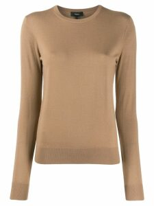 Theory crew neck jumper - Brown