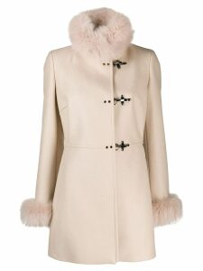 Fay single-breasted coat - NEUTRALS