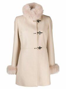 Fay single-breasted coat - Neutrals