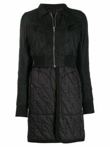 Rick Owens panelled layered coat - Black