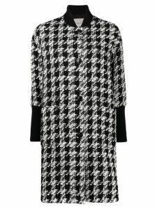 Twin-Set houndstooth midi coat - Black