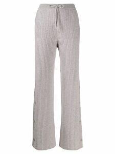 Loro Piana knitted track pants - Grey