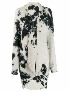 Suzusan tie-dye effect cardi-coat - White